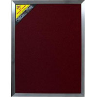 'Chrome Zone' Large Pinboard Maroon - 60 x 80cm