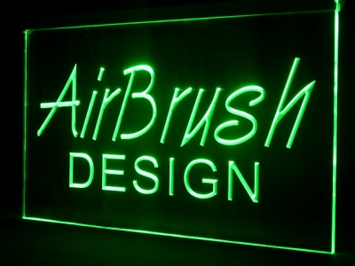 Edge lit led sign engraved (bespoke)