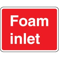 Fire safety sign - Fire Foam Inlet Text 087