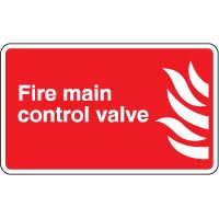 Fire safety sign - Fire Main Control