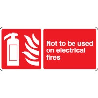 Fire safety sign - Fire Not To Be Used On 104