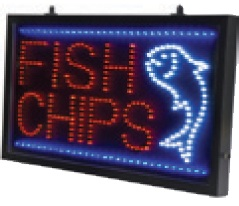 Fish Chips LED Sign2