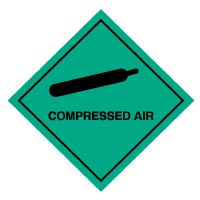Hazard safety sign - Compressed Air 001