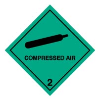 Hazard safety sign - Compressed Air 003