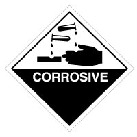 Hazard safety sign - Corrosive 006