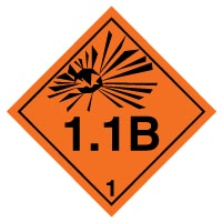 Hazard safety sign - Explosive 1.1B 014