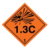 Hazard safety sign - Explosive 1.3C 023