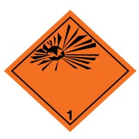 Hazard safety sign - Explosive Symbol (1) 029