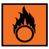 Hazard safety sign - Oxidizing 053