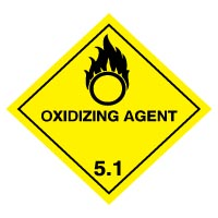 Hazard safety sign - Oxidizing Agent 055