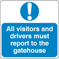 Mandatory Safety Sign - All Visitors 027