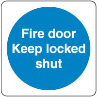 Mandatory Safety Sign - Fire Door Keep 053