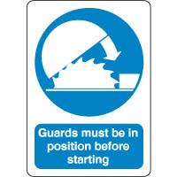 Mandatory Safety Sign - Guards In Position 071