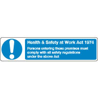 Mandatory Safety Sign - Health & Safety 078