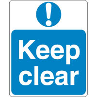 Mandatory Safety Sign - Keep Clear 084