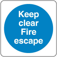 Mandatory Safety Sign - Keep Clear Fire 089