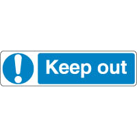 Mandatory Safety Sign - Keep Out 097