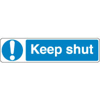 Mandatory Safety Sign - Keep Shut 098