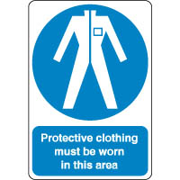 Mandatory Safety Sign - Protective Clothing 123