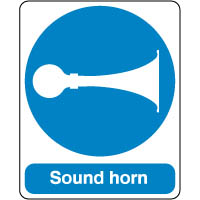 Mandatory Safety Sign - Sound Horn 138