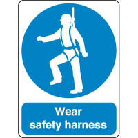 Mandatory Safety Sign - Wear Harness 186