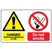 Multiple safety sign - Hazard Substances 014