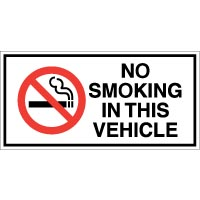 No Smoking safety sign - No Smoking In This Vehicle 015