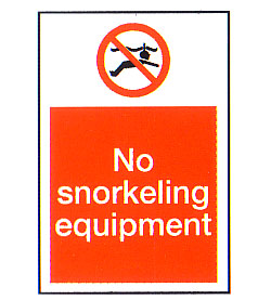 No Snorkeling Equipment