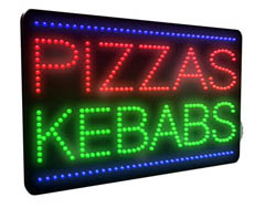 Pizzas, Kebabs LED Sign