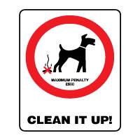 Prohibition safety sign - Clean it up! 156