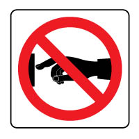 Prohibition safety sign - Do Not Touch 187