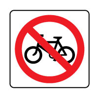 Prohibition safety sign - No Bicycles 189