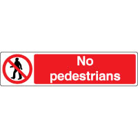 Prohibition safety sign - No Pedestrains 081