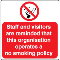 Prohibition safety sign - Staff and Visitors 134