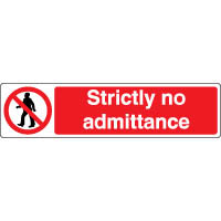 Prohibition safety sign - Strictly No 135
