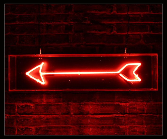 Red Arrow Neon Sign