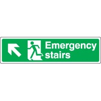 Safe Safety Sign - Emergency Left Up 057