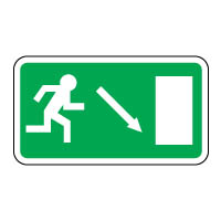 Safe Safety Sign - Exit Door Down 071