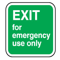 Safe Safety Sign - Exit For Emergency 080