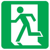 Safe Safety Sign - Exit Left 006