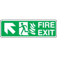 Safe Safety Sign - Fire Door Left Up 091