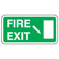 Safe Safety Sign - Fire Exit Down 117