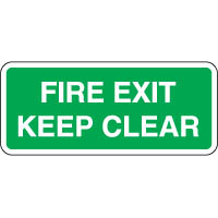 Safe Safety Sign - Fire Exit Keep 118