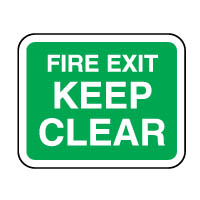 Safe Safety Sign - Fire Exit Keep 119