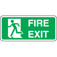 Safe Safety Sign - Fire Exit Left 2 121