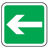 Safe Safety Sign - Safe Arrow Left 035