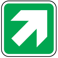 Safe Safety Sign - Safety Arrow Right 021