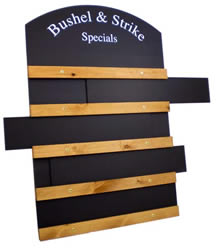 Sliding Chalkboards with Oval Top