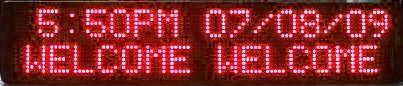 Turbo LED Outdoor Sign - Large fonts - Single or Bi line - 2 different colours - 3 sizes