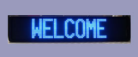 Turbo LED Single Line Outdoor Sign - 2 different colours - 3 sizes